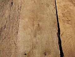 Unfinished reclaimed oak flooring